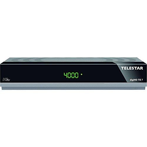Telestar digiHD TS 7 HDTV-Satelliten Receiver (HDMI, SCART, USB, PVR Ready, Audio optisch, LAN - anthrazit - (Generalüberholt)