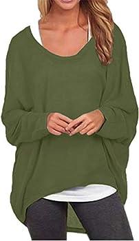 OnlyShe Women's Oversized Batwing Sleeve Sweater