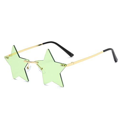 Sunglasses Gafas de Sol Gafas De Sol De Estrella Sin Montura De Moda para Mujeres Y Hombres, Gafas De Sol