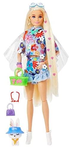 Barbie Extra Doll and Pet, Multicolor (Mattel HDJ45)
