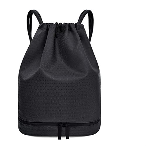SOOSING Mochila Impermeable para Hombres y feminales Mochila Deportiva Gimnasio Mini Mochila de Viaje (Color : Black)