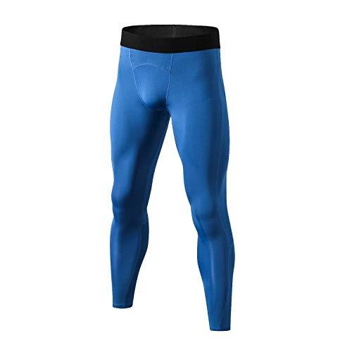 OLEEKA Enganliegende Stretchhose Fahrradhose Schnelltrocknende Trainingshose für Herren Fitness Lounge Athletic Leggings