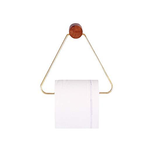 DC CLOUD Klopapierhalter Toilettenrollenhalter Toilettenpapierhalter Aus Holz Papierhandtuchhalter Für Die Küche Küchenrollenhalter, Folienhalter Gold