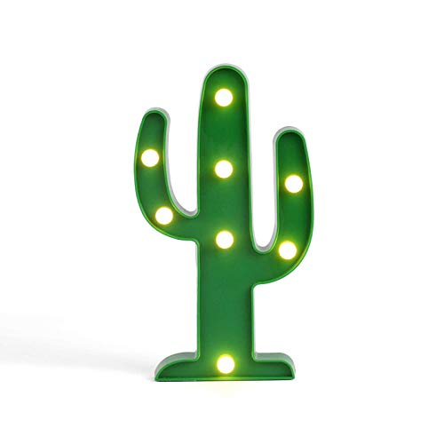 Tischleuchte Kaktus LED Grün Tischlampe Dekolampe Nachtlicht (Wandlampe, Dekolicht, 25,5 cm, Partylicht)