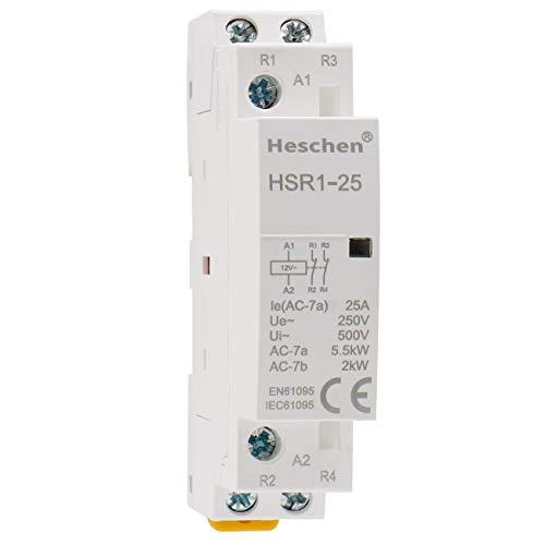 Heschen Contactor de CA doméstico HSR1-25 Ie 25A 2 polos Dos normalmente...