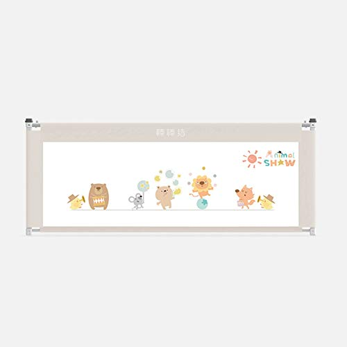 Child's Crib Guardrail, Baby Anti-fall Bedside Baffle, Vertical Lifting Guardrail, General 1.8-2m Bed Fence (Size : 150cm)