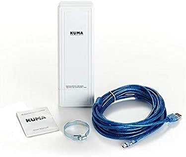 KUMA Wifi USB Adapter - 150Mbps 2.4Ghz Network Adaptor - 16DBI Wi-fi Connector Antenna Extender -...