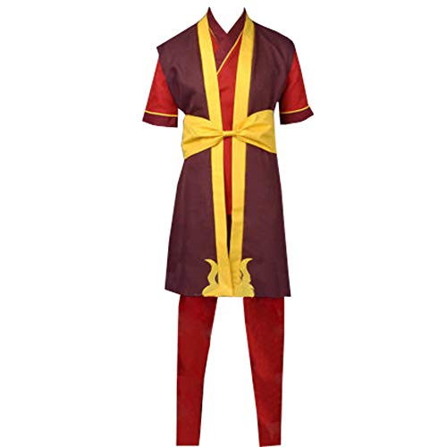 Adult Zuko Cosplay Costume Suit Custom Made (XXL) Red