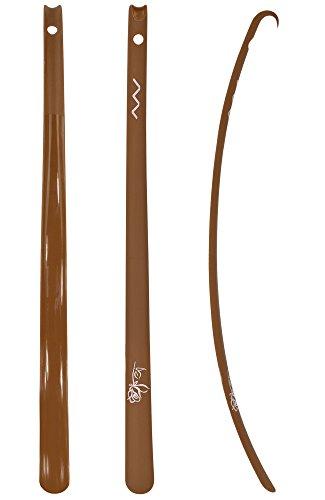 ASIS nettrade Calzascarpe–Calzascarpe–XXL–Marrone–1Pezzi–Flessibile–in plastica–69,5cm