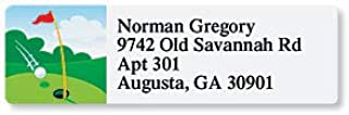 Golf Hole-in-One Sheeted Address Labels