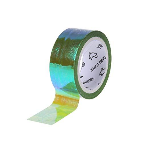 FURU Washi Tape DIY Dekorative -Rhythmische Gymnastik Dekoration Holographische RG Prismatische Glitter Tape Hoops Stick