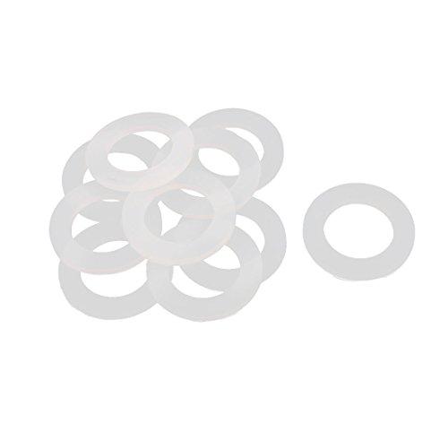 sourcingmap 10 Stück Weiß 40 x 25 x 3mm Silikon O Ring Dichtung Dichtungsringe Dichtungen de