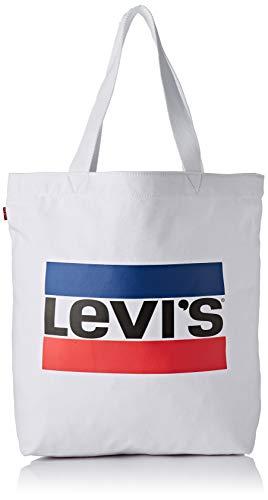 Levi's Damen Sportswear Logo Tote W Stofftasche, Weiß (Noir Regular White), 14x39x30 centimeters