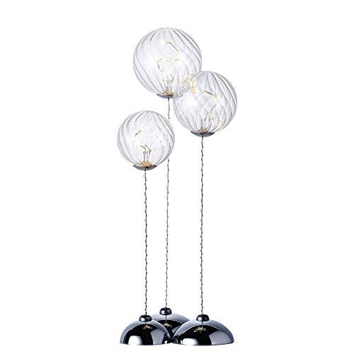 Sirius Home Wave Trio Light Decoration Figure 9lamp (S) LED transparent–Dekorative Beleuchtung (9Lamp (S), LED, gelb, light Decoration Figure, transparent, Innenraum)