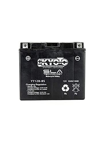 Batería moto Kyoto SLA YT12B-BS AGM - Sin mantenimiento - 12 V 10 Ah - Dimensiones: 150 x 70 x 131 mm compatible con DUCATI Sport 750 2002