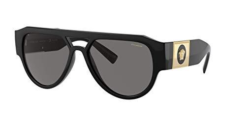 Versace Gafas de Sol MEDUSA STUD VE 4401 Black/Grey 57/17/140 hombre
