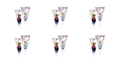 ALMACENESADAN 0649, Pack 12 Conos Disney Frozen; Bolsas