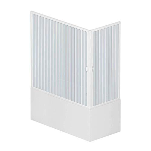 Para bañera y ducha plástico PVC 700 x 1500 mm mod, Nadia con apertura central