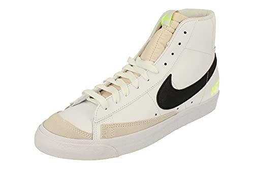 Nike Blazer Mid 77 Hombre Hi Top Trainers DM2834 Sneakers Zapatos (UK 8 US 9 EU 42.5, White Black Volt Platinum Tint 100)