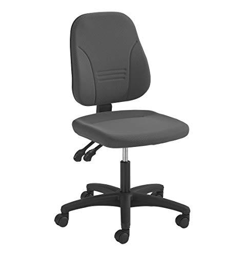 Prosedia Bürodrehstuhl YOUNICO PLUS 3 mit Permanentkontaktmechanik, individuell verstellbar, ohne Armlehnen, niedrige 3D-Rückenlehne, anthrazit