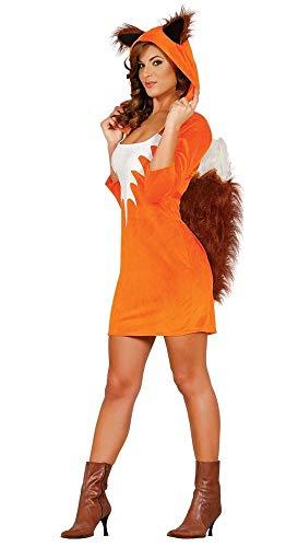 less is more Fuchs Damen-Kostüm Foxy Girl Fellkostüm sexy Tierkostüm Erwachsene, Größe:M