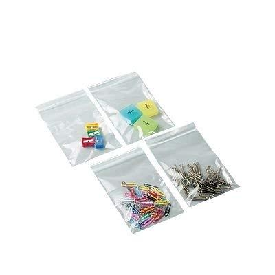 Unipapel 130345 - Pack de 100 bolsas con autocierre, 80 x 12