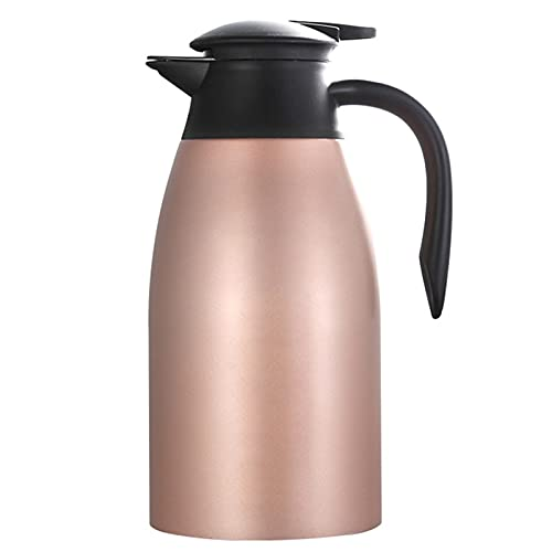 Jarra Térmica, termo para bebidas frías, hervidor de agua para el hogar, botella aislada de doble pared, hervidor de vacío - rose gold