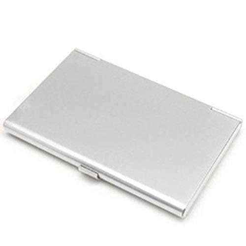Niñas Joyero Titular 1PC de almacenamiento de aluminio identificación del negocio de tarjetas de crédito Mini Maleta bancaria Tarjeta de la caja del sostenedor de la joyería caja del organizador del r