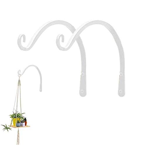 J-ouuo Garden Plant Wall Mounted Hook Hanging Bracket Decorative Plant Hanger for Bird Feeders Planters
