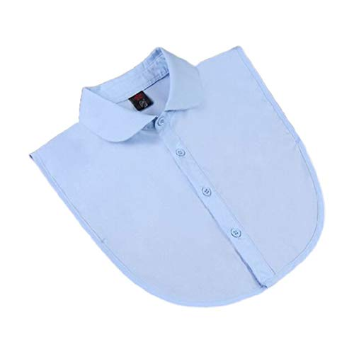 KERDEJAR False Collar, Donne Pure Color Pizzo Staccabile Risvolto Girocollo Collana Camicia Falso Falso Colletto Girocollo L Blu A