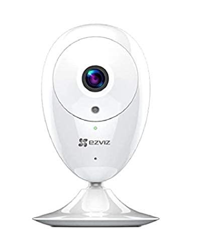 EZVIZ Wi-Fi Cámara de Vigilancia 1080p Interior, IP FHD Cámara de Seguridad con Visión Nocturna, Audio Bidireccional, Monitor de Bebé, Detección de Movimiento, Compatible con Alexa, ezCube Pro