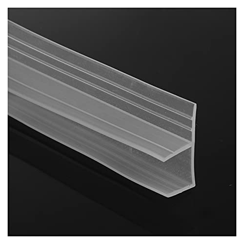 Overhil1s Guarnizioni Box Doccia, 1m 6-12mm F u H Forma Forma Porta Vetro Strips Strips Silicone Gomma Vetro Glass Sigillo Striscia Striscia dello Schermo del Vasca da Bagno Weatherstrip