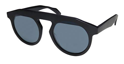 Yohji Yamamoto Yy5017 Mens/Womens Designer Full-rim 100% UVA & UVB Lenses Sunglasses/Shades (52-21-140, Navy)