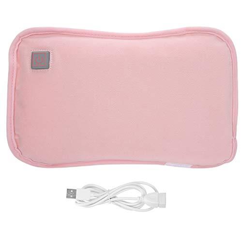 Calentador de manos Almohada calefactora eléctrica recargable Almohada calefactora eléctrica impermeable USB Plug-In Handwarmer Pocket Pouch(rosado)