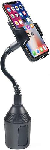 DBREAKS Universal Handy Autohalterung, 360° Drehbar Dosenhalter, Schwarz Getränkehalter für Auto, Cup Mount für Smartphones bis zum 8.4CM