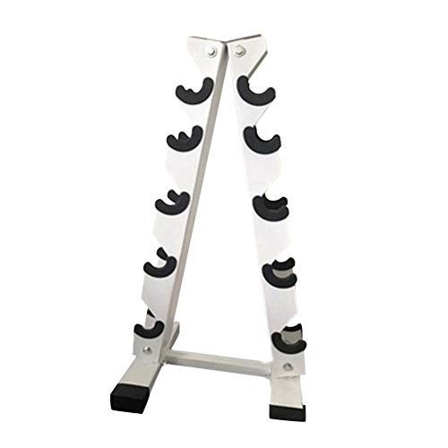 Hantelablage mit 5 Ebenen für die Hantelablage mit mehreren Ebenen, zur Aufbewahrung von Gewichten, Ständer für das Fitnessstudio (199,6 kg Tragkraft, 2020 Version)