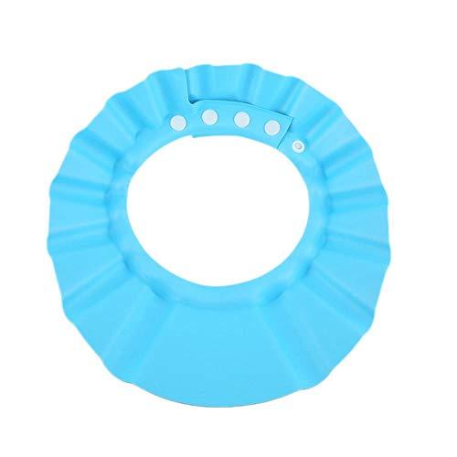 Bonnets de douche de bébé Shampooing Cap Wash Cheveux Enfants Bain Visière Chapeaux Réglable Bouclier Étanche Protection Oreille Oeil Enfants Chapeaux # 20, Bleu