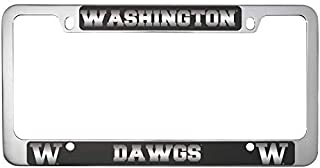 LXG, Inc. University of Washington-Metal License Plate Frame-Black