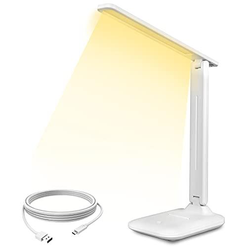 Lámpara Escritorio Led Tactil Sendowtek Flexo de Escritorio Recarga con USB Lampara...