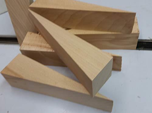 6 große Hartholzkeile 170x60x50mm