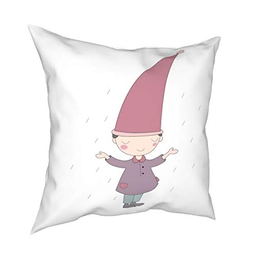 iksrgfvb Pillow Case Cushion Covers Cartoon Children Dream Square Pillowcases for Living Room Sofa 18 x 18 inch