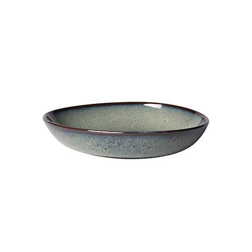 like. by Villeroy & Boch – Lave gris Schale flach klein, 22 x 21 x 4,2 cm, stilvolle Speiseschale aus Steingut für kleine Beilagen und Salate, spülmaschinengeeignet