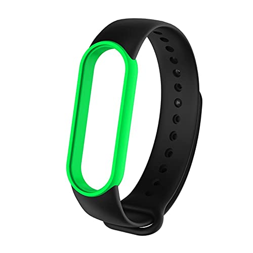 HENHEN Jun store Correa deportiva de silicona suave para Xiaomi Mi Band 5 6 Smartwatch de doble color de repuesto (Color de la correa: B, ancho de la correa: solo la correa)