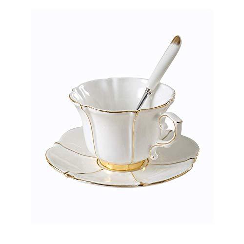 Copas de café Cerámica y platillos Conjuntos Ideas de regalos personalizados únicos para mujeres Mamá Mamá Profesores Bebidas calientes Elegantes tazas de té modernas y platillos Conjunto de la tarde