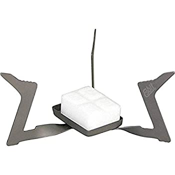 Esbit 11.5g  0.4 Ounce  Ultralight Folding Titanium Stove for Use with Solid Fuel Tablets