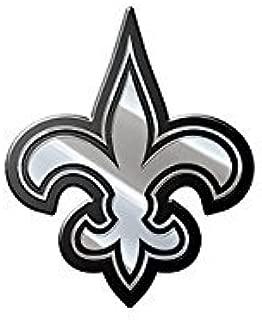 Stockdale New Orleans Saints Le Fleur SD33495 Premium Raised Metal Chrome Auto Emblem Football