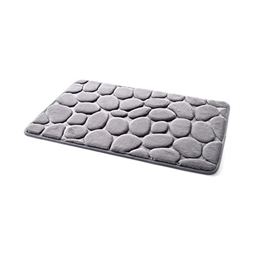 Cuarto de baño Alfombra Antideslizante Pebble Mat Suelo Alfombra Memoria Espuma Alfombra Cojín Cubierta Cubierta Cuarto de baño Colchón (Color : Grey, Specification : 400MMx600MM)