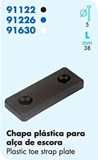 Nautos-LASER PARTS-# 91122-TOE STRAP PLATE-PLASTIC -8 pieces set- Sailboat hardware