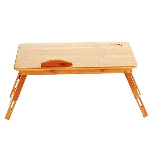 LF- Folding Computer Desk Bamboo Bed Pigro Persone con Tavolo da Pranzo Semplice Mobile Student Writing Desk Learning Convenienza (Color : Photo Color, Size : One Size)