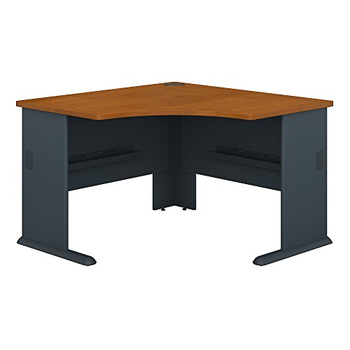 corner table for offices Bush Business Furniture Series A 48W Corner Desk in Natural Cherry and Slate